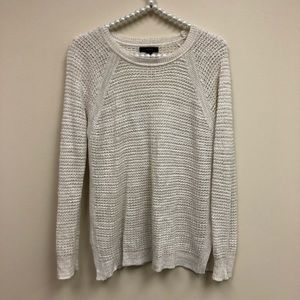 J Crew White Chunky Oversized Knit Sweater